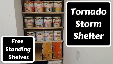 Tornado Storm Shelter Shelves