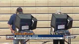 Voter registration rally held in Las Vegas