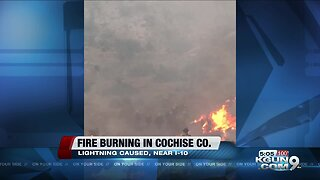 Lightning strike sparks wildfire in Cochise County