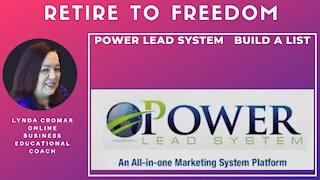 Power Lead System build a list