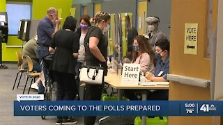 Voters coming to the polls prepared