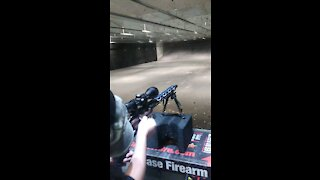 His first time shooting a rifle