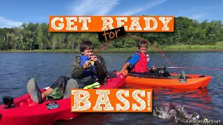 S1:E17 Boys Haul in a Bunch of Largemouth Bass from Kayaks! | Spinnerbait Fishing with Kids Outdoors