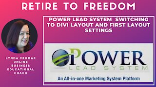 Power Lead System switching to Divi layout and first layout settings