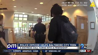 Police officer helps Baltimore City teen