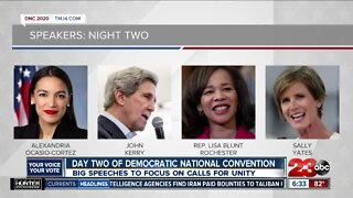 Election 2020: Day two of Democratic National Convention