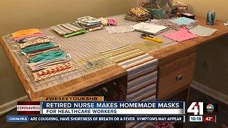 Retired nurse makes homemade masks