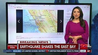 3.4 magnitude earthquake shakes the East Bay