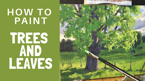 How to Paint TREES and LEAVES