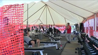 Olean gym owner opens outdoor tent workouts for members