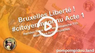 Bruxelles Liberté ! #citoyeninconnu Acte 1