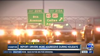 Report: Drivers more aggressive during holidays
