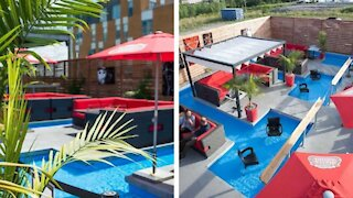 This Restaurant On Montreal's North Shore Has A Terrasse With A Pool To Dip Your Feet