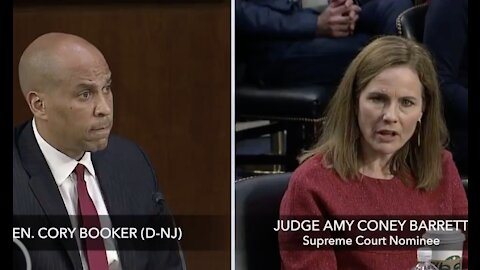 """Booker Asks ACB, Who Is a Mother of Two Black Children, If She """"Denounces White Supremacy"""""""