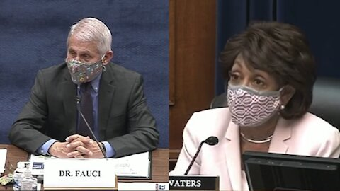 """Maxine Waters GUSHES Over Dr. Fauci, Tells Him """"I Love You"""" in Hearing"""