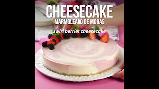 Blackberry Marble Cheesecake