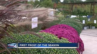 With a first frost coming, it's time to cover outdoor plants