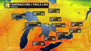 Roller-coaster temperatures for southern Ontario this week