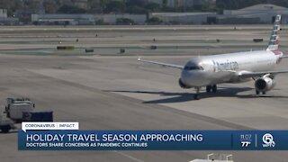 Doctors share concerns about holiday travel amid pandemic