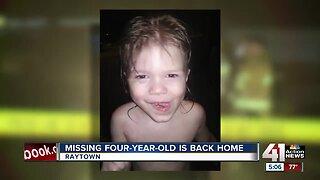 Missing 4-year-old Raytown boy found safe