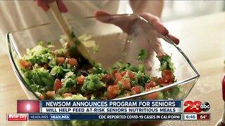 Newsom announces program that will help feed seniors