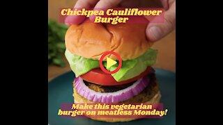 Chickpea Cauliflower Burger