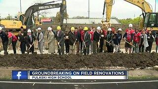 Groundbreaking at Pulaski High School on field renovations