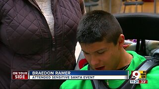 Sensitive Santa visits Cincinnati Children's