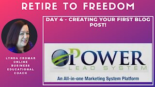 Day 4 - Creating Your First Blog Post!