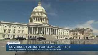 Governor calling for financial relief
