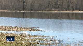 Wolf River flooding in Shiocton