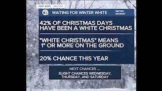 Will we have a White Christmas in metro Detroit?