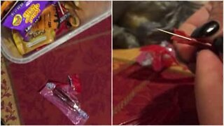 Mother finds a needle in her son's Halloween candy