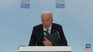 Biden Says He's Going to Get in Trouble with His Staff Then Physically Cowers to the Press