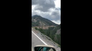 Leaving Ouray on the Million Dollar Highway