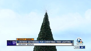 Christmas tree lighting in Delray Beach