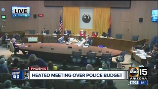 Heated meeting over police budget at city council meeting