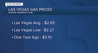 Gas prices in Las Vegas