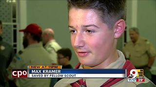 Boy Scout helped save friend's life on camping trip