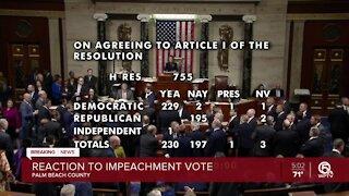 Florida Democrats, Republicans react to Trump's second impeachment