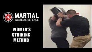 Women's self defense: striking