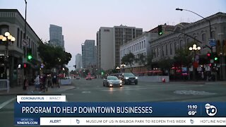 Program to help downtown businesses