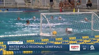Boca Raton water polo moving on to regional finals
