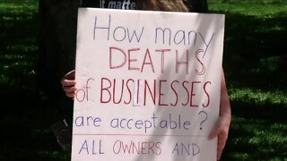 Small businesses hold protest in downtown Buffalo