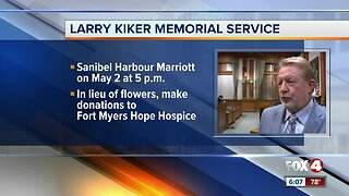 Memorial service fro Larry Kiker planned next month in Fort Myers