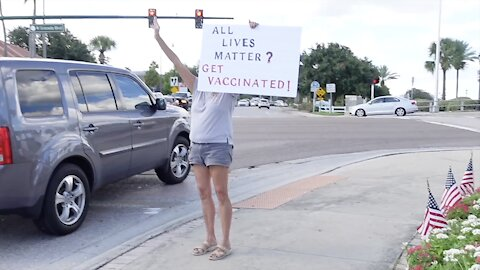 """""""All Lives Matter? Get Vaccinated!"""" Rally #TRIGGERED (Ormond Beach, FL) - UNCENSORED"""
