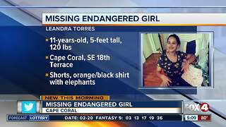 Cape Coral Police looking for missing 11-year-old girl