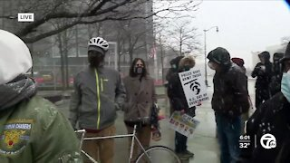 Reaction in downtown Detroit after guilty verdict read in Chauvin trial