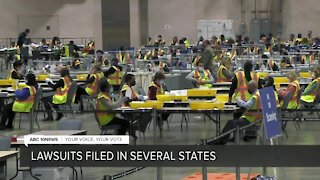 Trump campaign files lawsuits to stop vote counts