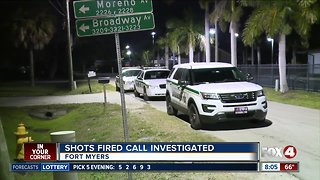 Shots fired investigation in Fort Myers overnight